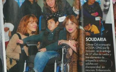 CILSA entregó 37 sillas de ruedas y 3 elementos junto a Celeste Cid y Paula Kohan en el Club Náutico Hacoaj – Julio 2016