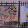 Mural inclusivo en la escuela Bustamante