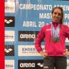 Celeste Puñet ganó seis medallas de oro en el Máster de Natación