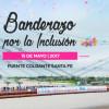 El Banderazo por la Inclusión vistió al Puente Colgante de Santa Fe