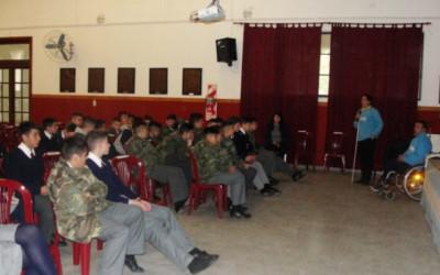 Taller de sensibilización en el Liceo Militar Manuel Belgrano