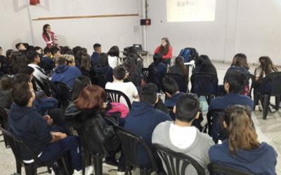 Charla testimonial en el Colegio Rasore