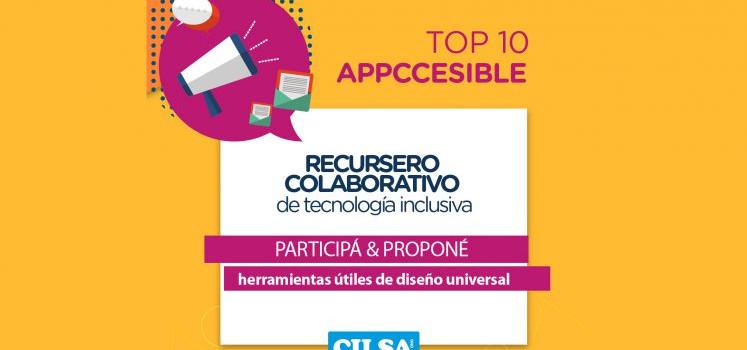 Top 10 Appccesible: recursero colaborativo sobre tecnología inclusiva