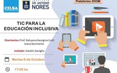 Charla sobre TIC para la educación inclusiva