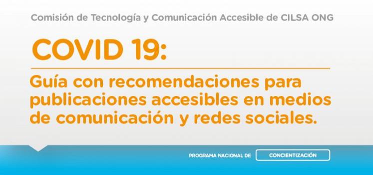 Guía de recomendaciones para publicaciones accesibles en medios de comunicación y redes sociales