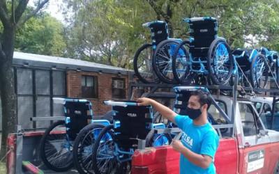 CILSA donó 20 sillas de ruedas de traslado a centros de vacunación contra el COVID-19 de la ciudad de Santa Fe