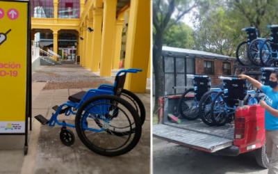 CILSA donó sillas de ruedas en centros de vacunación COVID-19: 120 en CABA y 20 en Santa Fe