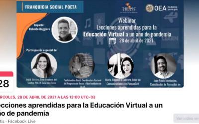 LECCIONES APRENDIDAS PARA LA EDUCACIÓN VIRTUAL