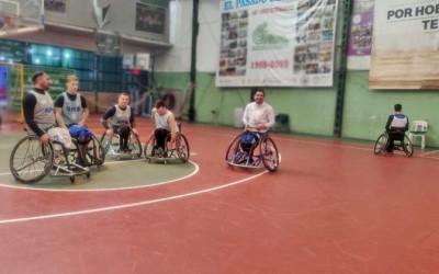 Sudamericano de básquet: atletas en preparación