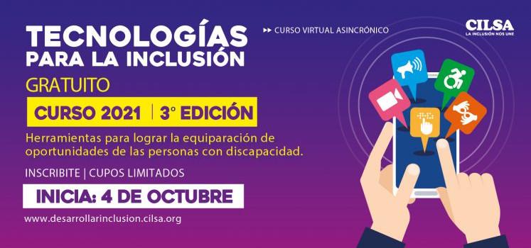 Tecnologías para la Inclusión. 3° Edición 2021 – Inscripciones abiertas