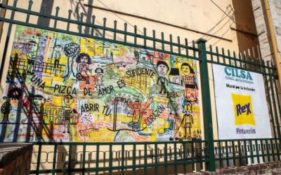 Se inauguró un mural en la Escuela Bustamante