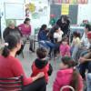 Actividad con las familias en el hogar Chicos del Suroeste