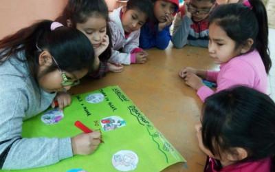 Taller sobre los derechos de la niñez en el hogar San Miguel