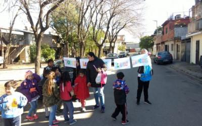 Tareas de concientización por los derechos de niños y niñas