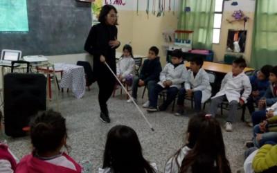 Alumnos de primario trabajaron sobre discapacidad visual