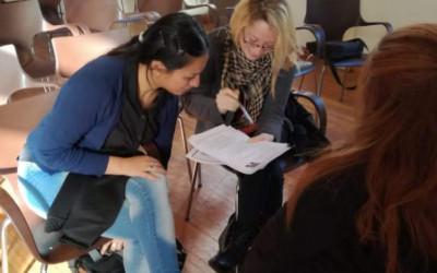 Becarios mendocinos participan de un taller sobre el mundo del trabajo