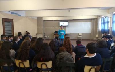 Estudiantes del Colegio Parroquial se suman a las actividades de concientización
