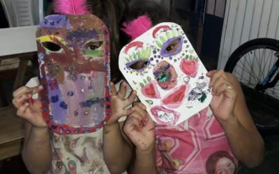 Taller de máscaras y juegos