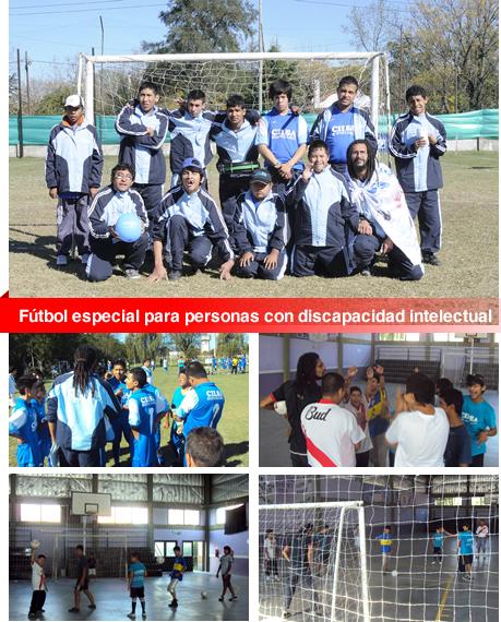 Fútbol especial para personas con discapacidad intelectual