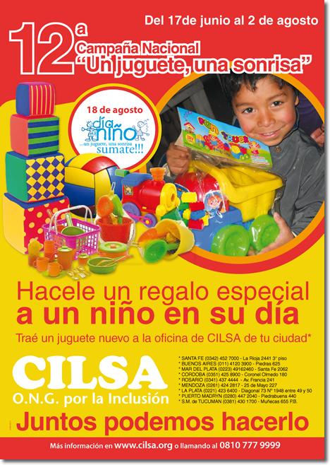 """Afiche Campaña """"Un juguete, una sonrisa"""""""