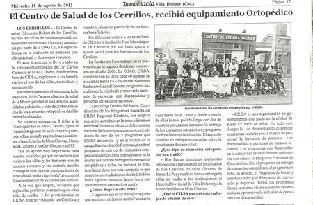 Diario Democracia, Mina Clavero